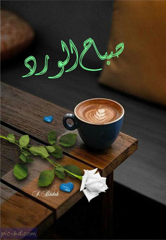 صور قهوه مكتوب عليها صباح الورد , صور صباح الورد مع فنجان ...