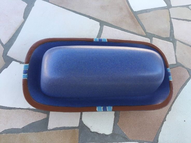 Dansk Mesa Sky Blue Butter Dish. Beautiful Condition!  | eBay