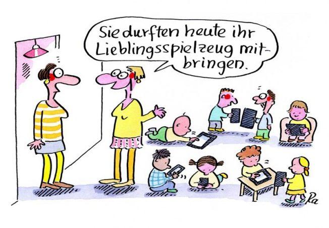 Kindergarten_KiGaPortal_Cartoon_Renate Alf_Lieblingsspielzeug