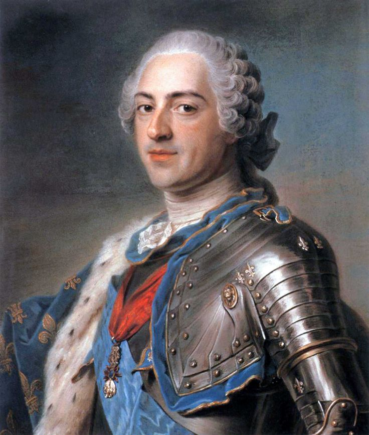 Portrait of Louis XV of France by Maurice Quentin de la Tour  Photo taken from Best of Painting website