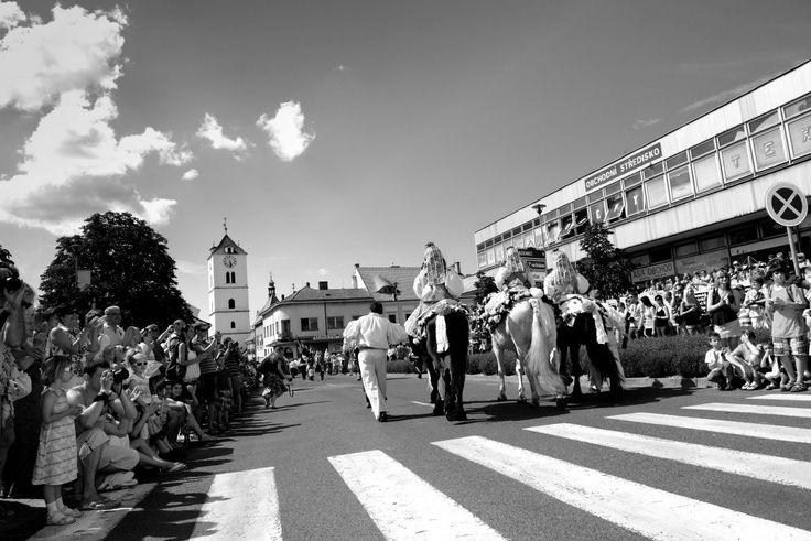 Mezinárodní folklorní festival 2012 - průvod ve městě
