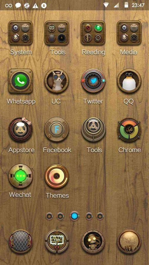 Steam Punk Hola Launcher Theme – Screenshot