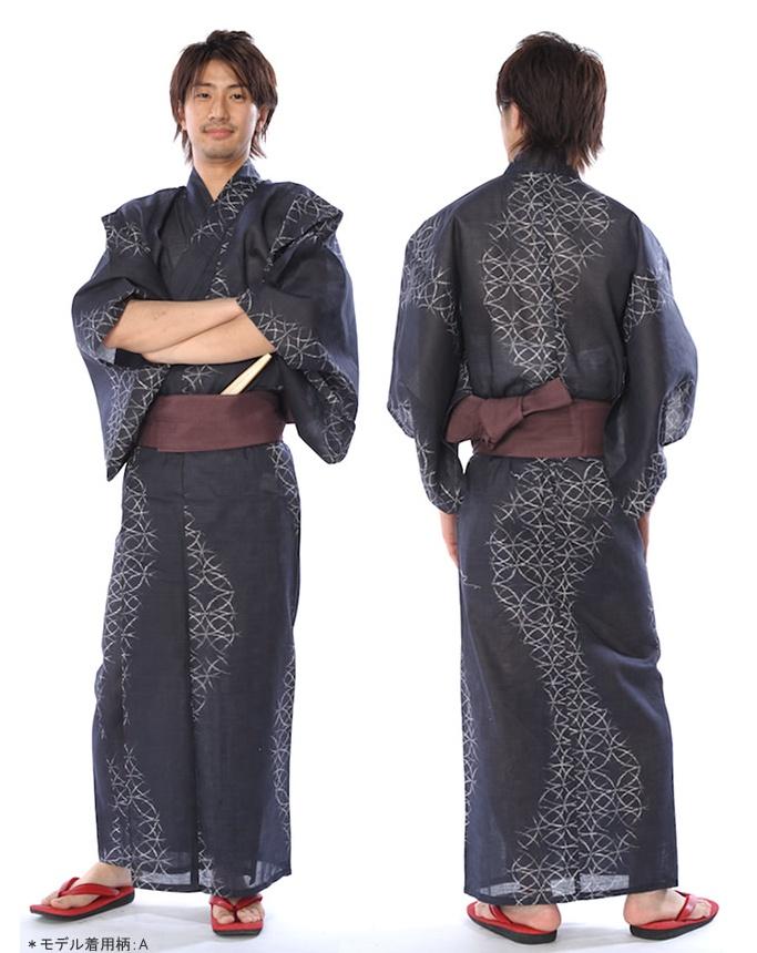 nice yukata, front and back   Men's Kimono   Pinterest ...