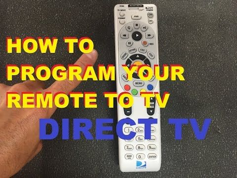 How To Program Your Directv Remote To Your Tv Easy Youtube