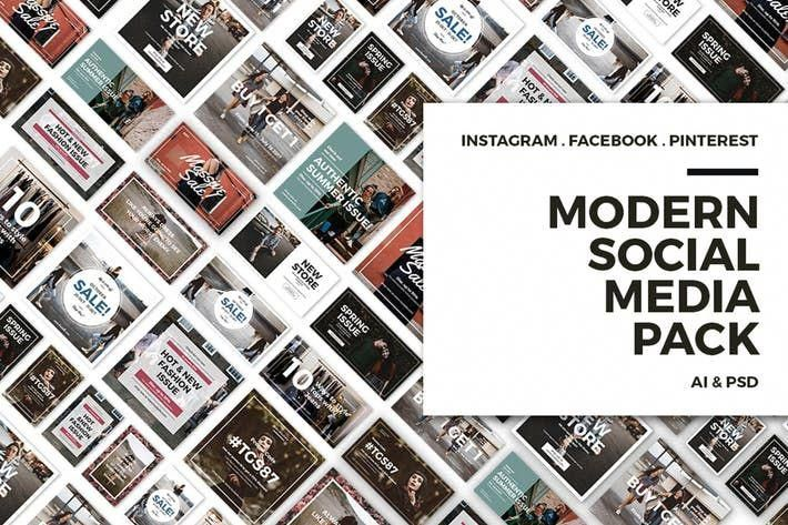 Modern Social Media Post Bundle Social Media Post Social Media Pack Social Media Design