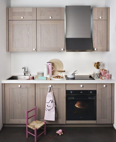 Une petite cuisine au style cottage - Les nouvelles cuisines style maison de campagne - CôtéMaison.fr