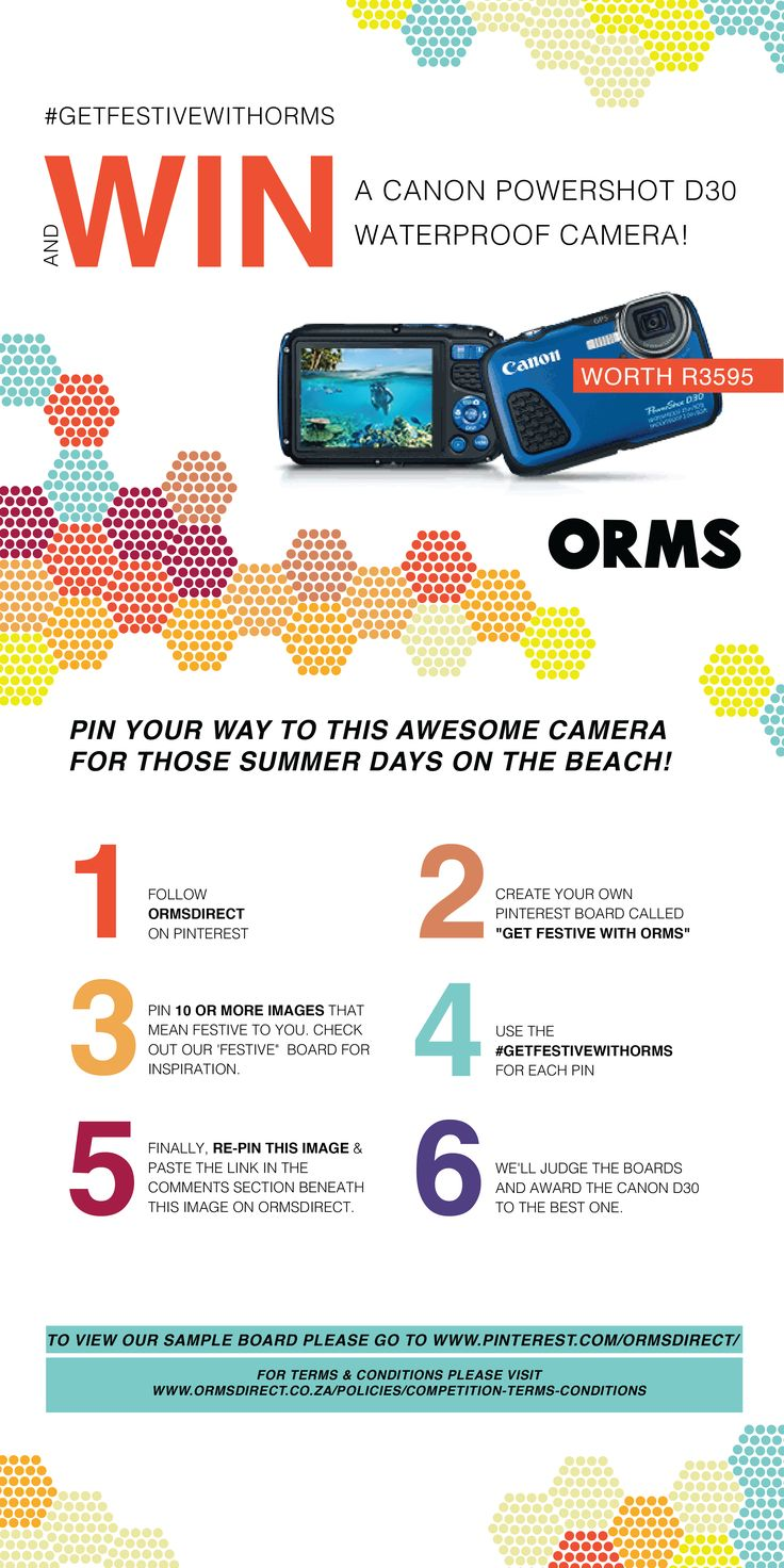"Stand a chance to WIN a Canon D30 by showing us what ""festive"" means to you! #getfestivewithorms"