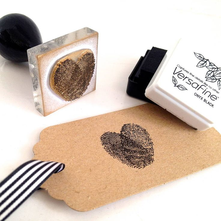 personalised fingerprint heart stamp by stompstamps | notonthehighstreet.com