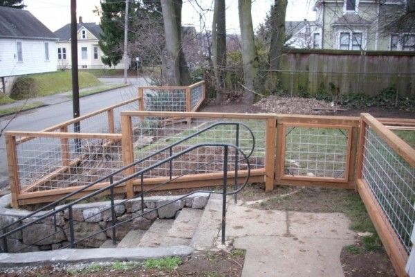 Welded Wire Fence With Wood Frame Good Idea On How To