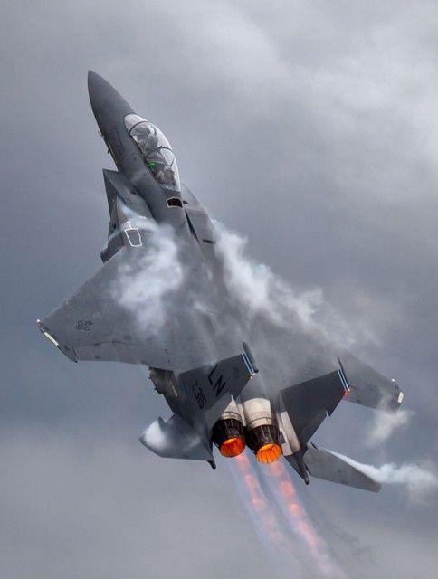 O F-15 pode voar a mais de 30.000 metros de altitude e passar dos 2.600 km/h (Divulgação)