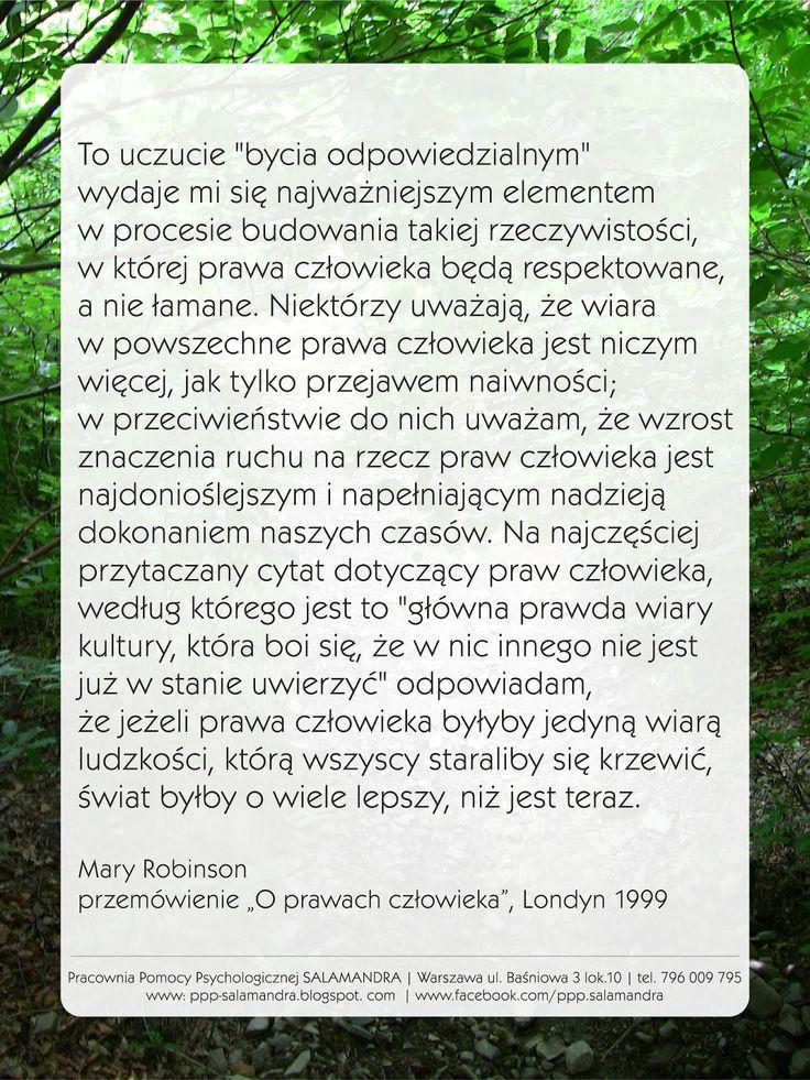 Mary Robinson - przemówienie o prawach człowieka