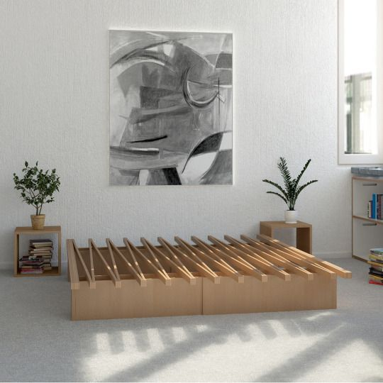 Check out the Tojo bed designed by the Swiss Eigenwert. Their innovative design rightly won the International Design Award of the Design Center in Stuttgart. It can expand like an accordion and its dimensions can vary: from 90 to 170 centimeters of width.