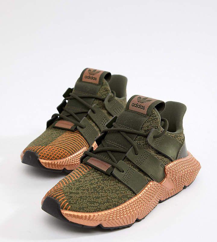 $120.00 adidas Originals #Prophere Sneakers In Khaki And
