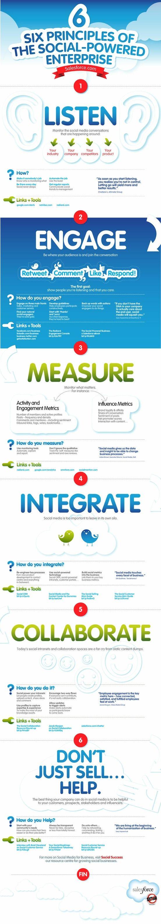 6 social media tips #infographic