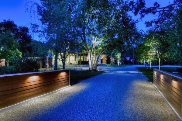 Top 40 Best Driveway Lighting Ideas Landscaping Designs In 2020 Driveway Lighting Modern Driveway Driveway Landscaping