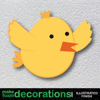 Flying Spring Chickie Foam Decoration