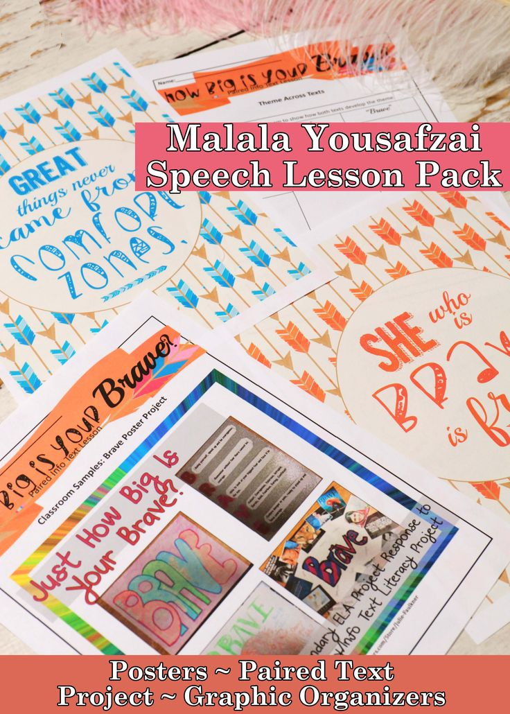 Malala Yousafzai Nonfiction Speech Mini Unit Lesson, Women's History, Brave. Middle-High School