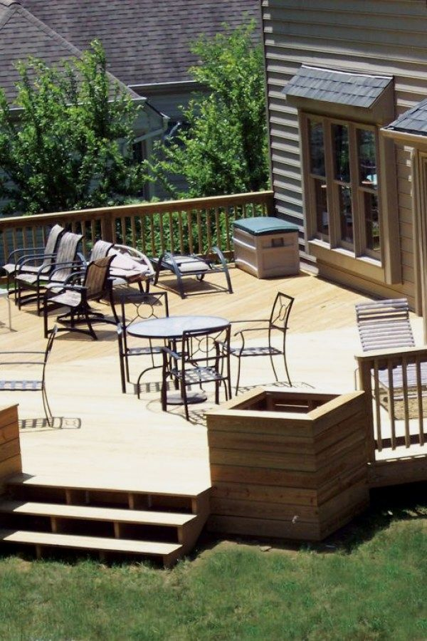 29 Creative Wood Deck Designs you can do yourself for your yard ...