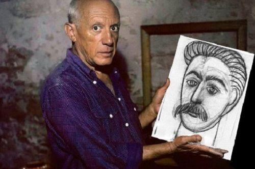 """Quando recebeu um convite darevista literária""""Les Lettres Françaises""""para pintar um retrato deStálin,o pintor espanhol Pablo Picasso ficou emum beco sem saída: a publicação, que era referência na época,era comandada pelopoetaLouis Aragono, também membro e colega do Partido Comunista da..."""