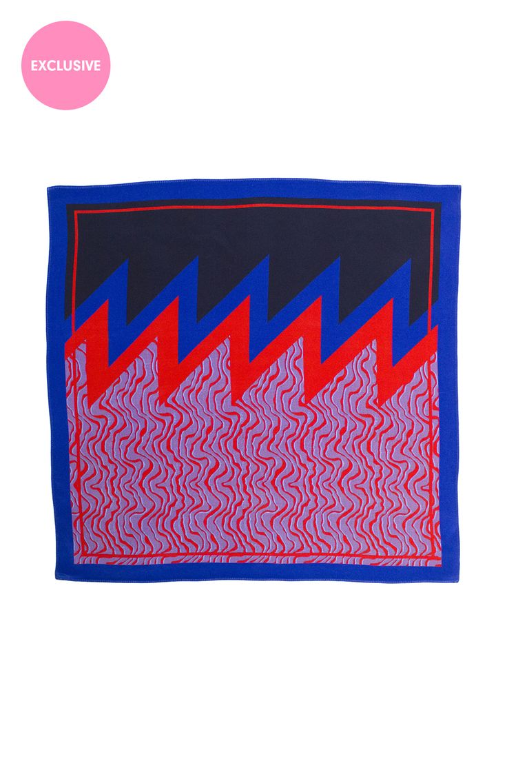 <p>Blue & Red Shevron with 3D Wave Print</p><p>Exclusive to the Danielle Romeril E-store. Wear AW16 ...