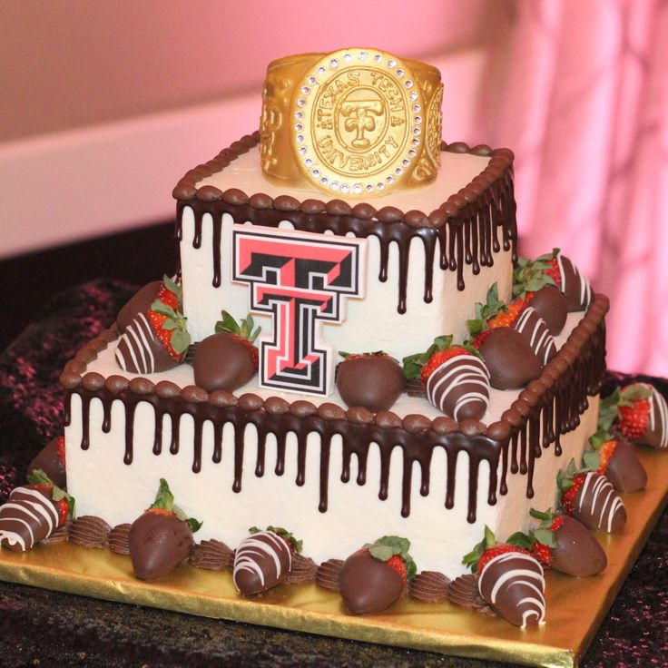 Texas Tech Class Ring Groom's Cake