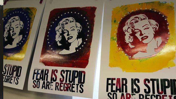 Marilyn Monroe – Letterpress på Rundqvist & Co