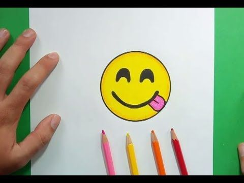 Como dibujar un Emoji paso a paso 9   How to draw an Emoji 9 - YouTube