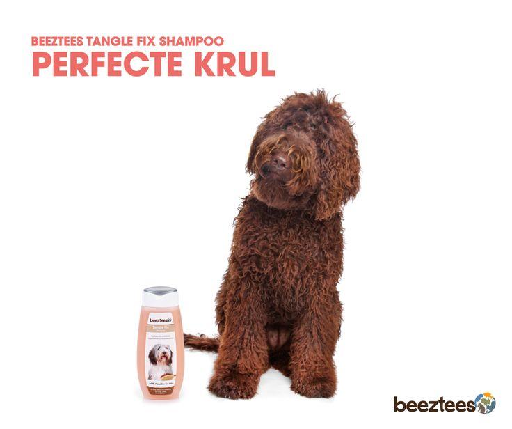 Beeztees Tangle Fix Shampoo. Anti-klit shampoo voor honden met een lange vacht en moeilijk doorkambaar haar. De toevoeging Macadamia Oil zorgt voor een soepele, zachte vacht en helpt bij het voorkomen van klitten.