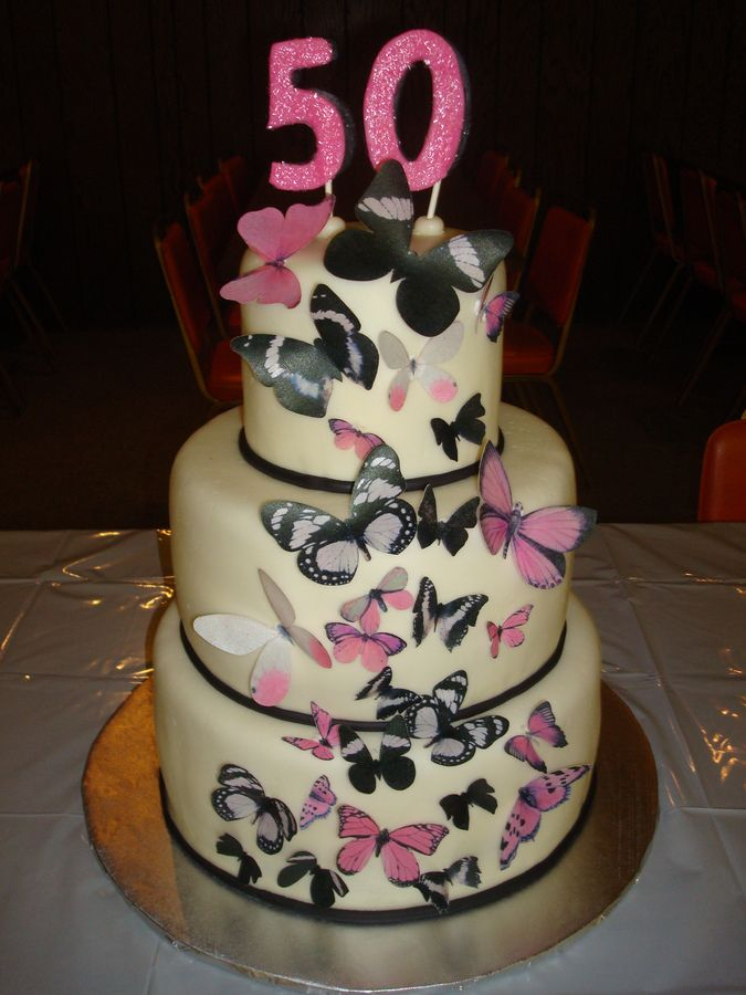 Cake Decorations For 50th Birthday : 15 best Birthday Cakes images on Pinterest Birthday ...