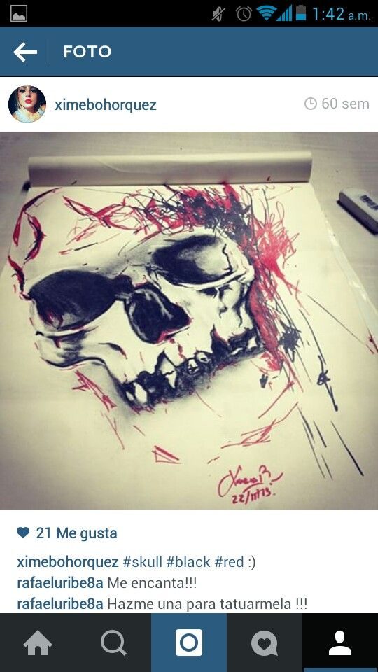 #skull #mydraws #sketch #ximenabohorquez  #tattoodesign