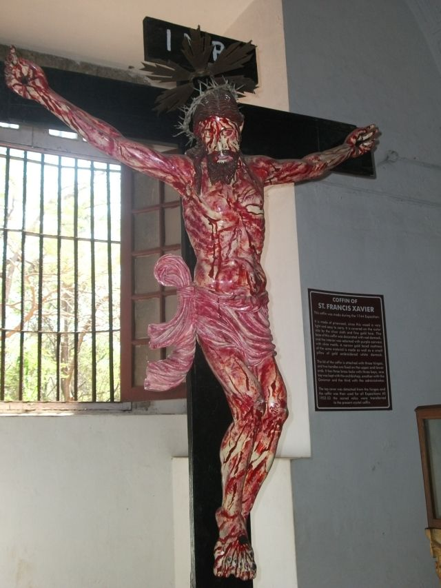 Old Goa - bloody crucifix