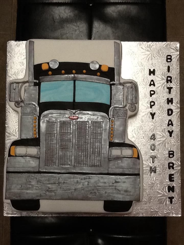 semi truck wedding cake toppers pin peterbilt blue tractor trailer semi truck wedding cake 19742