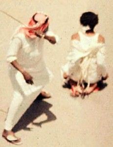Saudi woman who received 100 lashes for the crime of being raped...