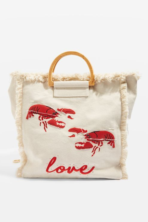 b625f0c898 Bobby Lobster Canvas Shopper Bag - Topshop