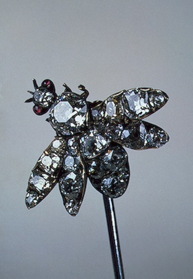Hair pin, mid 18th Century, Gold, silver, steel, cut diamond and rubies, Russia (c) State Hermitage Museum