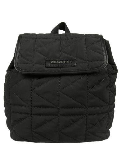 KARL LAGERFELD Karl Lagerfeld Quilted Backpack. #karllagerfeld #bags #backpacks #