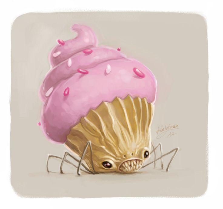 creepy #cupcake