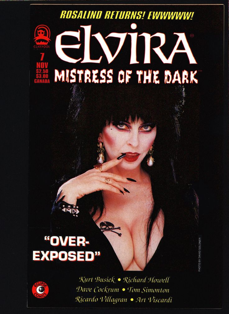 ELVIRA Mistress of the Dark #7 Claypool Comics, Kurt Busiek, Richard Howell, Dave Cockrum, Horror Fantasy TV Host