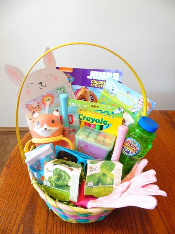 Easter Basket For Toddlers With No Candy Easter Baskets Toddler Easter Easter Kids