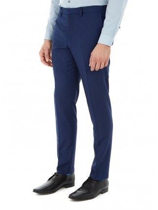 INDIGO SKINNY FIT SUIT TROUSERS