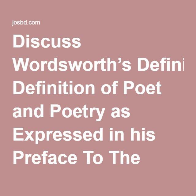 wordsworth lyrical ballads essay definition