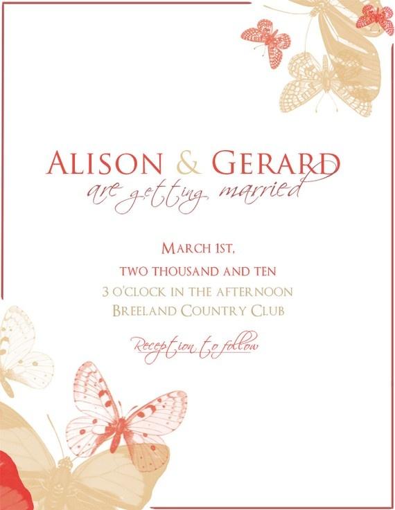 63 best Mariposas images – Elegant Butterfly Wedding Invitations