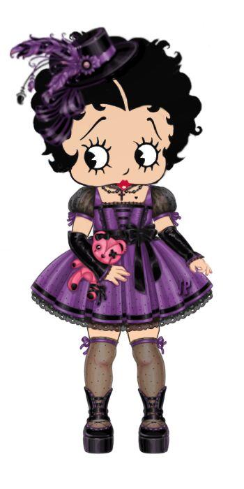 Little Boop in a cute purple dress #illustration #bettyboop ✿⊱╮