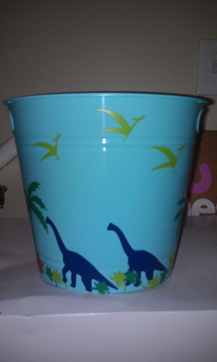 Dinosaur Easter Basket Bucket Good For Boys I Love You