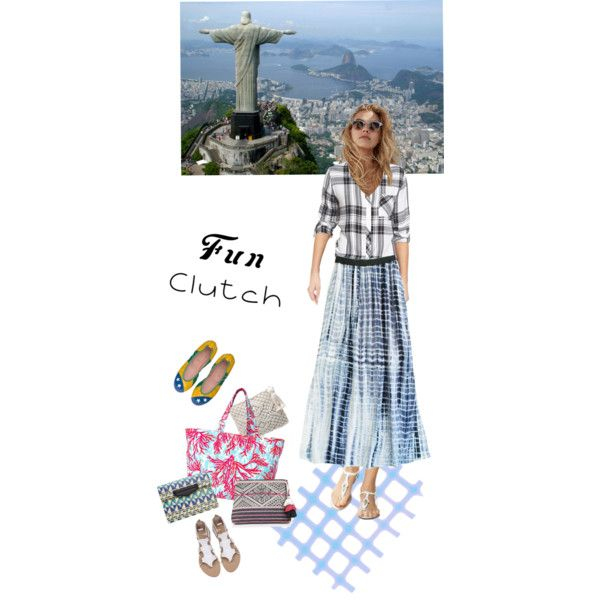 Brazilian Walk by happiestime on Polyvore featuring moda, Rails, YDE, Lilly Pulitzer, Star Mela, MANGO, doll, maxiskirt, clutches and plaidshirt