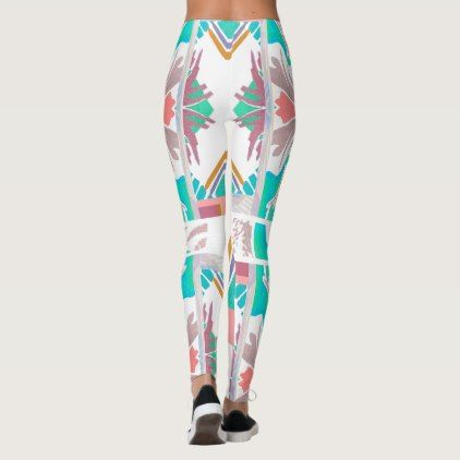 Crazy Southwest Fashion Leggings on White - gift for her idea diy special unique