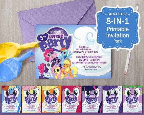 Mi pequeño Pony invitaciones imprimible  fiesta temática de