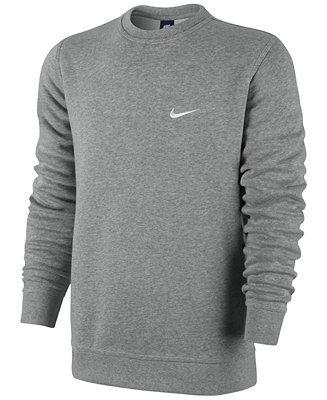 Nike Men's Classic Fleece Crew Pullover - Hoodies