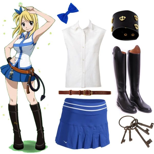 """Lucy Fairy Tail Closet Cosplay"" by cherubicwindigo on Polyvore"
