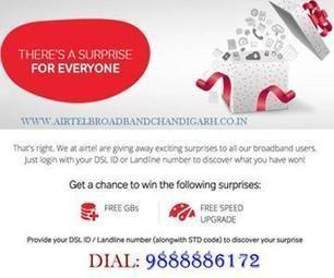 Airtel Broadband Services Chandigarh - 9888884172